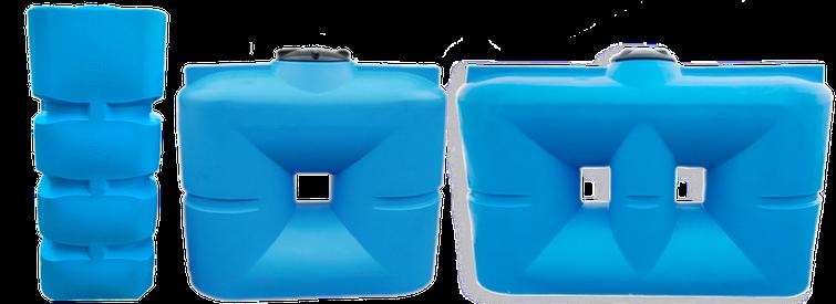 Плоские квадратные пластиковые емкости