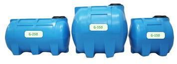 Горизонтальные пластиковые емкости пищевые для воды и химии
